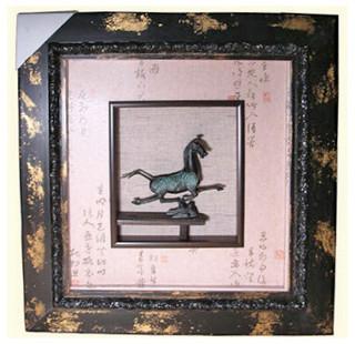 Bronze Tong Horse, Curio Box Frame