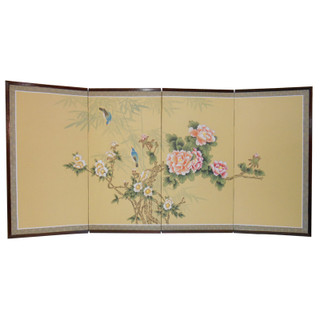 Asian Hand Painted Silk Screen