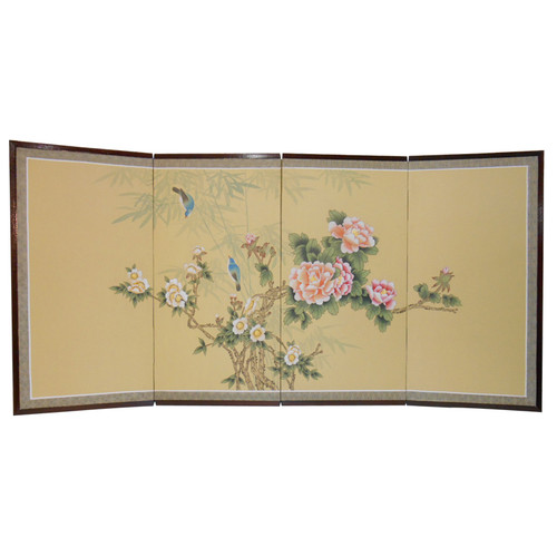 Asian Hand Painted Silk Screen