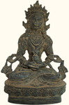 Finely Detailed Chinese Bronze Buddhist statuette