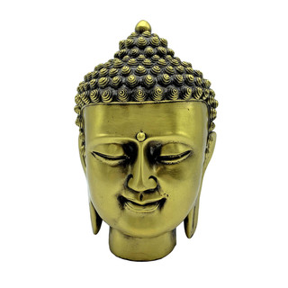 Chinese Bronze Buddha Head Sculpture