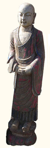 Marble Painted Standing monk