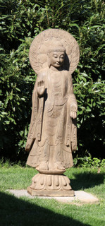 Stone Garden Statue Buddha With Halo