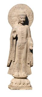 Stone Garden Statue Buddha With Halo