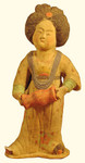15 inch tall ceramic lady accordion player