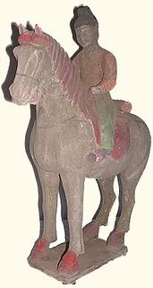 15 inch tall Han dynasty style horse