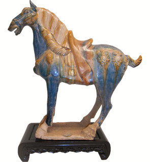 Chinese Sculpture Celadon Horse