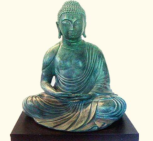 15 inch tall bronze Buddha