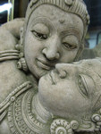 "24 inch tall ""Kissing Lady"" stone statue"