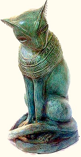 Bronze Cat Statue In Asian Style For Garden 18 H