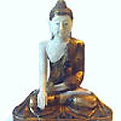 24 inch tall Burmese style Sitting Buddha