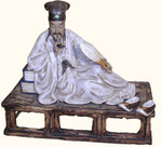 SALE Hand Made Chinese clay and  Porcelain Scholar at rest