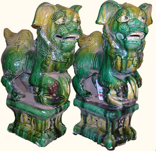 ceramic Chinese Foo dogs
