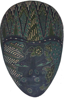 Hand painted Bali Style Mask