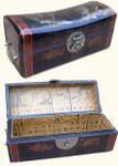Faux leather hand painted Harmony jewelry box with phoenix and dragon design