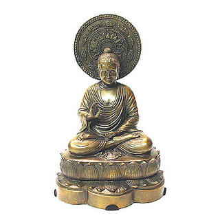 Bronze Sitting Buddha FREE SHIPPING