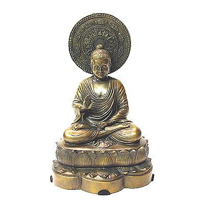 Bronze Sitting Buddha FREE SHIPPING