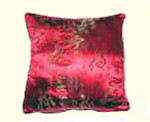 Stunning Gold calligraphy on red rayon Pillow-FREE SHIPPING