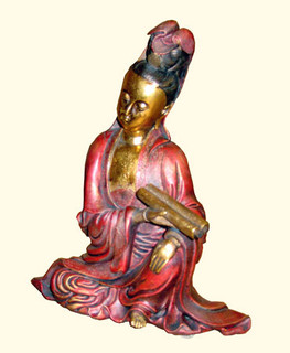 Quan-Yin sitting in Red dress