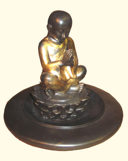 Sitting boy, incense holder