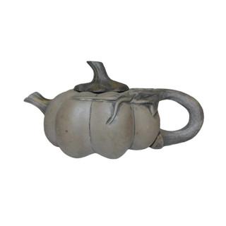 Oriental Teapot Sculpted Gourd Design