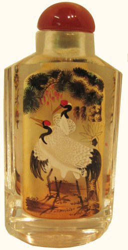 Beautiful hand painted Opium Snuff Bottle