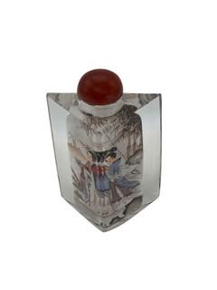 Hand Painted Oriental Snuff Bottle