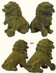 Finely Detailed Chinese Bronze Foo Dogs Statues