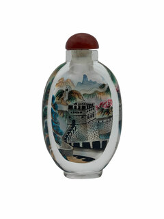Hand Painted Oval Snuff Bottle