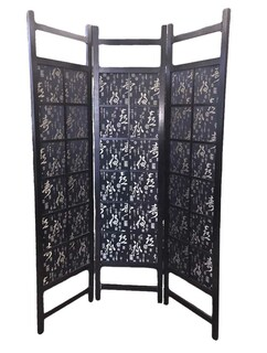 Shanghai-long life, 3 panel Fabric screen or room divider