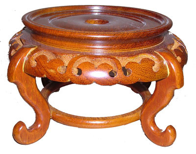 Wooden Vase Stands For Table Bowls In Honey Stain