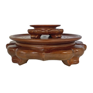 Light Cherry Color Onion Shaped Vase Stand