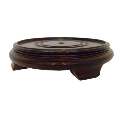 Vase Stand In Asian Dark Red Mahogany Oriental