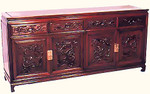 Rosewood Dragon carved Buffet in dragon design
