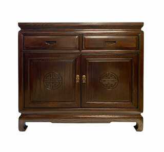 """36"""" Rosewood Finish Oriental Buffet Hand Carved Long Life , or 40"""" Width"""