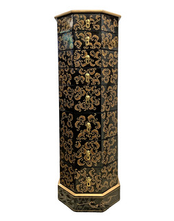Oriental Pedestal Hand Painted Japanese Chinoiserie
