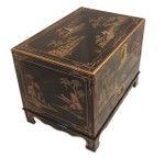 Asian Landscape design Coffee Table with shelf & drawer