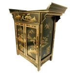 Black Lacquer Oriental Altar cabinet