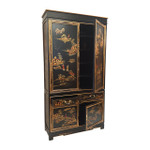 Oriental Armoire with 4 doors, 2 drawers and shelves