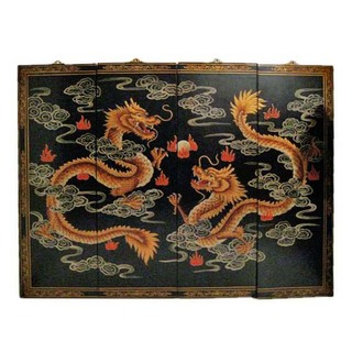 Chinese Happy Dragon Oriental Wall Panels