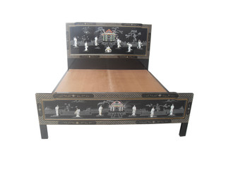 Oriental lacquer Bed