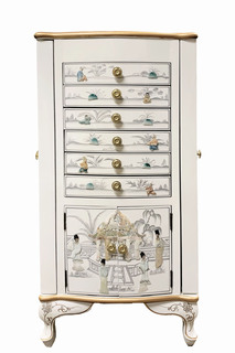 """39"""" Oriental Jewelry Armoire"""