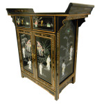 Black Lacquer Wing top Cabinet