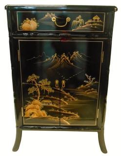 Splayed Leg Oriental Shoe Cabinet