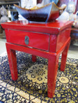 red lacquer table