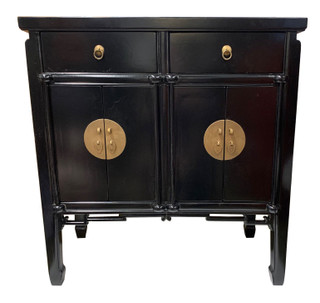 Oriental Hall Chest Antique Matte Lacquer Finish