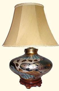 Onion Shaped Porcelain Lamp