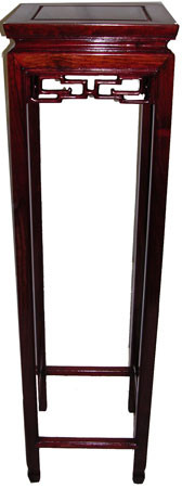 44 inch solid rosewood Chinese Chen Lueng style plant stand