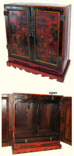 Hand painted traditional Chinese cabinet