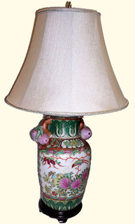 Chinese porcelain lamp with handles